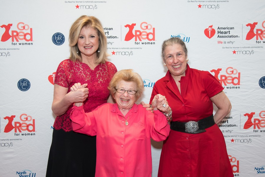 Ben Asen Event Photo: Arianna Huffington, Dr. Ruth Westheimer and American Heart Association Board Member Patti Kenner at the 2015 GO Red Luncheon at the New York Hilton Hotel