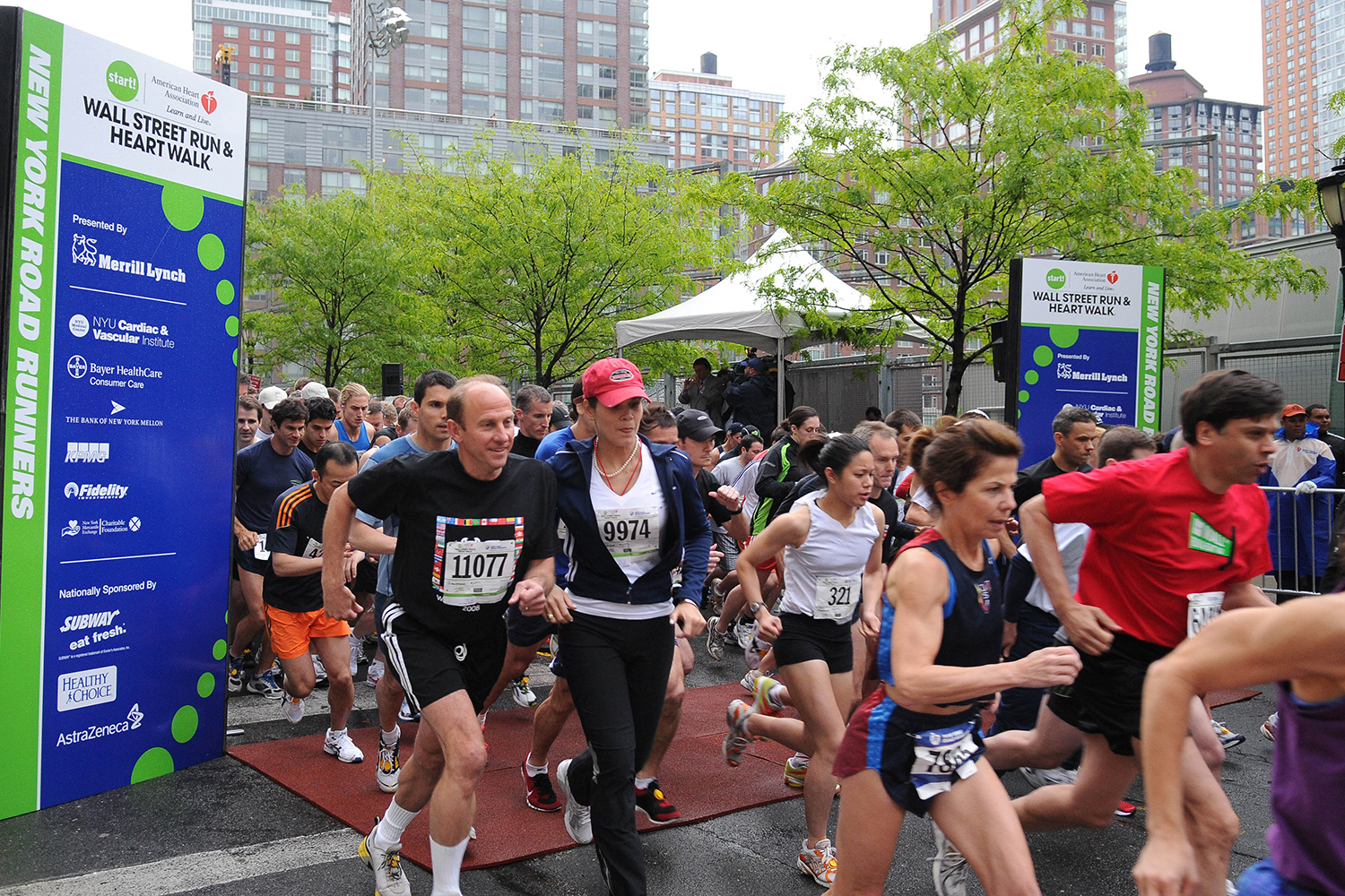 Ben Asen Event Photo: American Heart Association Wall Street Run and Walk start of the race