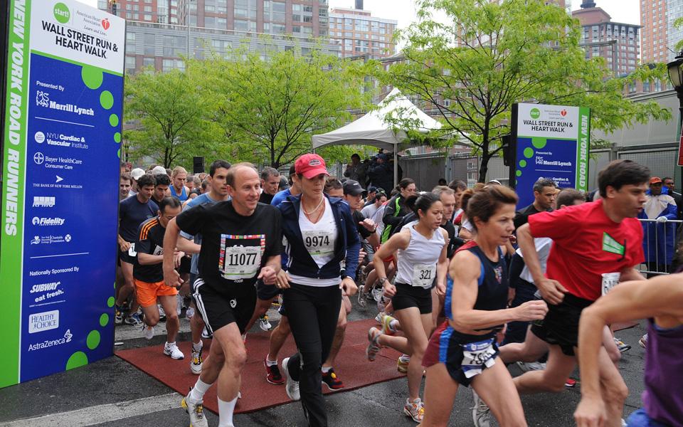 Ben Asen Event Photo: American Heart Association Wall Street Run and Walk start of the race