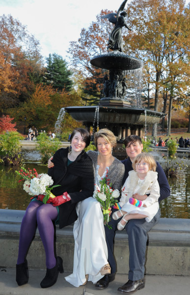 Ben Asen Celebration Photo: Same sex wedding for 2 women with daughters in Central Park, New York City