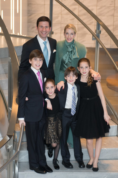 Ben Asen Celebration Photo: Bar Mitzvah boy with his family at bar mitzvah party