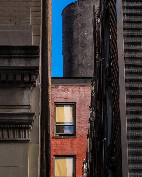 Ben Asen Personal Work Photo: color photo black water tower, Chelsea, Manhattan New York City