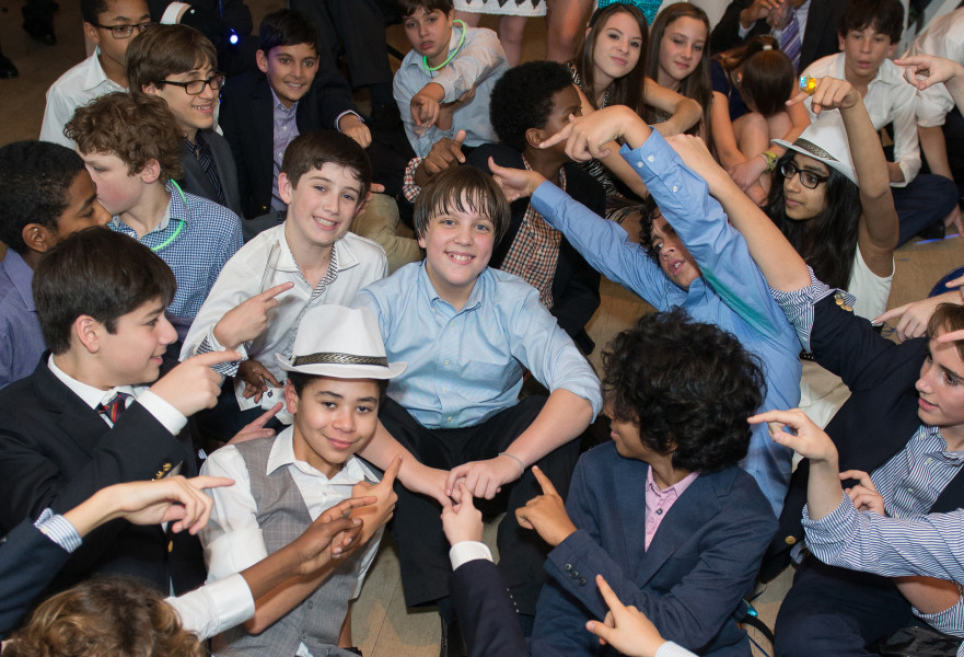 Ben Asen Celebration Photo: Bar Mitzvah boy with his friends at bar mitzvah party