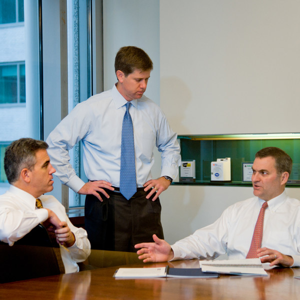 Ben Asen Editorial Photo: 3 men in a meeting at Fidus partners