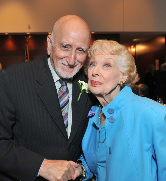 Ben Asen Event Photo: Actors Dominic Chianese (Uncle Junior of the Sopranos) & Joyce Randolph (Trixie of The Honeymooners) at Encore Awards