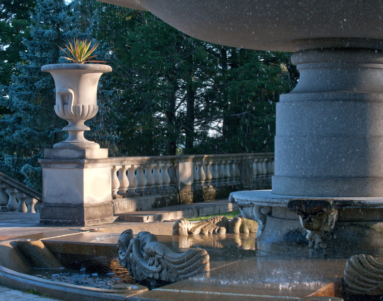 Ben Asen Personal Work Photo: Color photo of Fountain at Kykuit which is an estate build by John D. Rockefeller for his family at Pocantico Hills which is a hamlet in the town of Mount Pleasant, New York