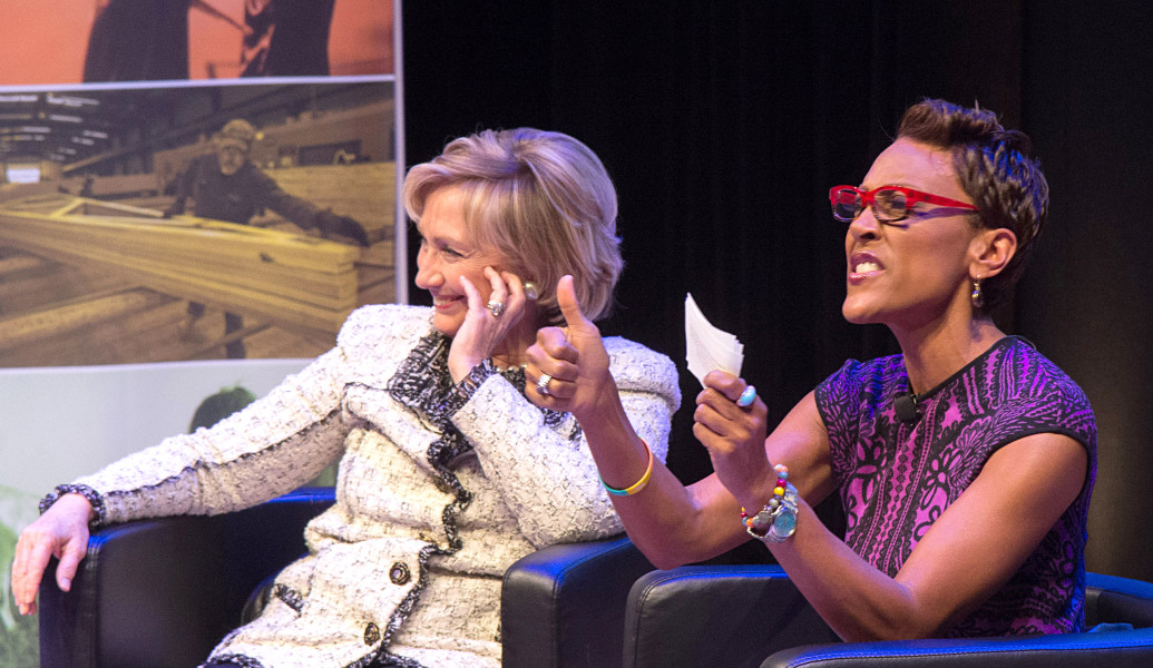 Ben Asen Event Photo: Hillary Clinton & Robin Roberts at Philanthropy New York's Annual Meeting at the Ford Foundation