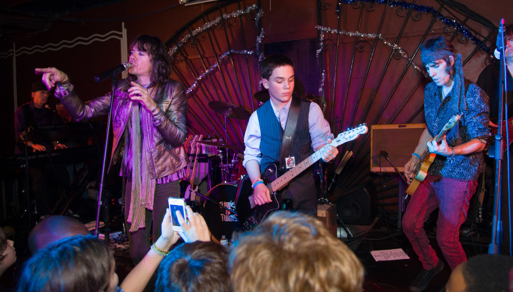 Ben Asen Celebration Photo: Bar Mitzvah at party performing with Rolling Stones Tribute Band