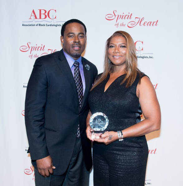 Ben Asen Event Photo: Actor, Lamman Rucker presenting Spirt of Heart Award to Queen Latifah at the Association of Black Cardiologist Gala 2016