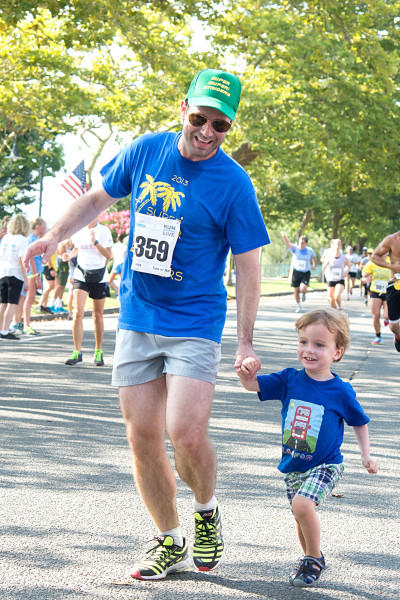 Ben Asen Event Photo: Father and son walking in the Lung Cancer Research Fund Walk