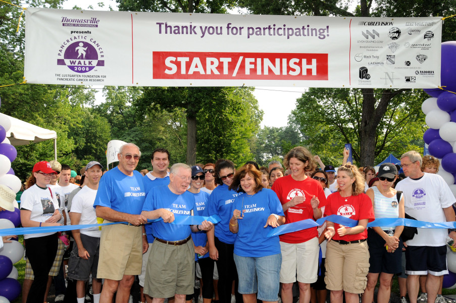 Ben Asen Event Photo: Lustgarten Foundation for Pancreatic Research with Cablevision CEO & Founder Charles Dolan at Lustgarten Foundation Long Island Walk
