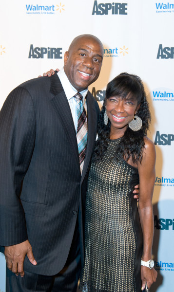 Ben Asen Event Photo: Former LA Laker Magic Johnson & the Singer Natalie Cole at ASPiRE Launch Party