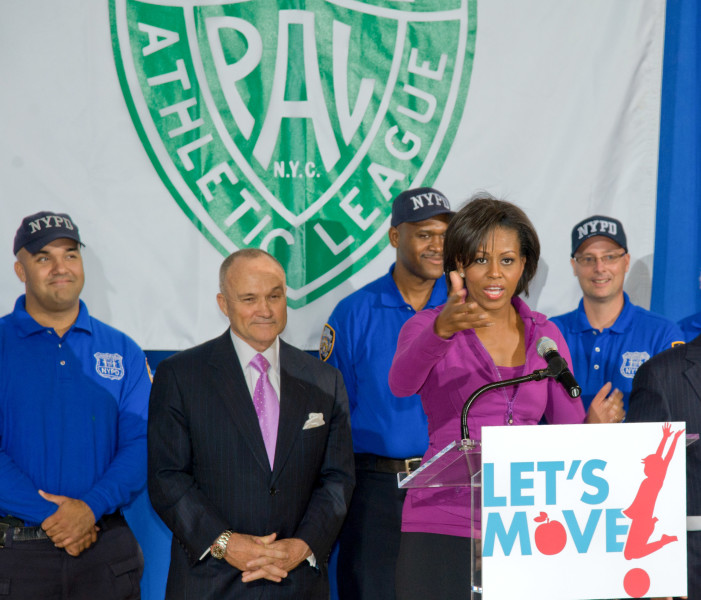 Ben Asen Event Photo: First Lady Michelle Obama's Let's Move Program At The Police Athletic League of New York with New York City Police Commissioner Ray Kelly