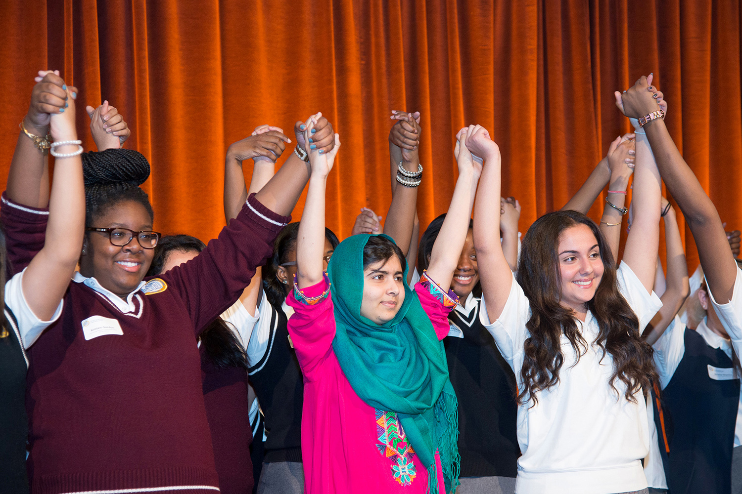 Ben Asen Event Photo: Malala Yousafzai with New York City High School students