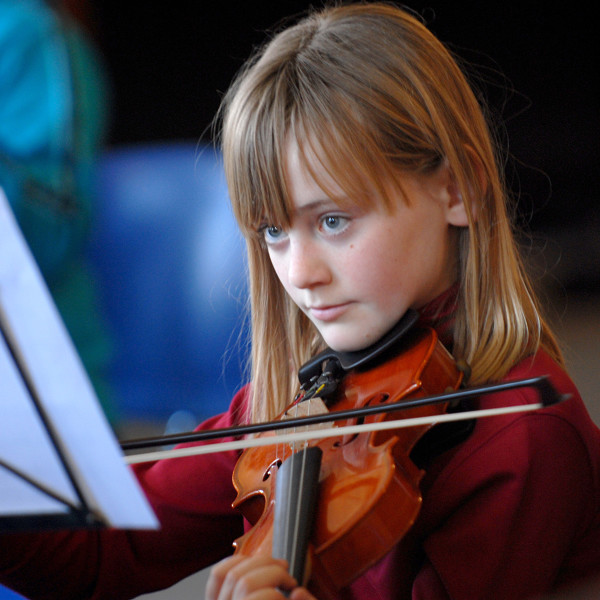 Ben Asen Editorial Photo: Norwalk Youth Symphony, Young Girl Playing Violin in Norwalk Connecticut