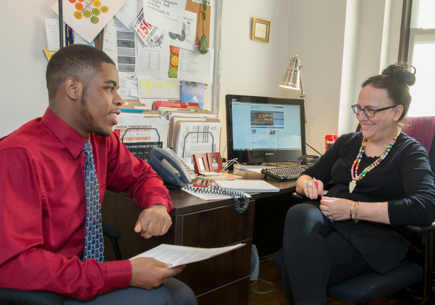 Ben Asen Editorial Photo: New York City high school being mentored by a job coach