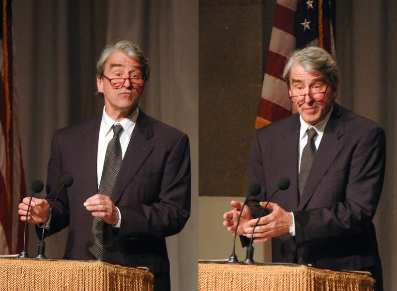 Ben Asen Event Photo: Actor, Sam Waterston reciting President Abraham Lincoln's Emancipation Proclamation speech in Cooper Union's Great Hall where Lincoln gave the speech in 1863 in New York City