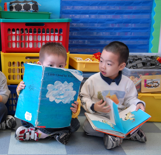 Ben Asen Editorial Photo: United Way of NYC 2 Nursery School Students in New York City Chinatown Nursery School.