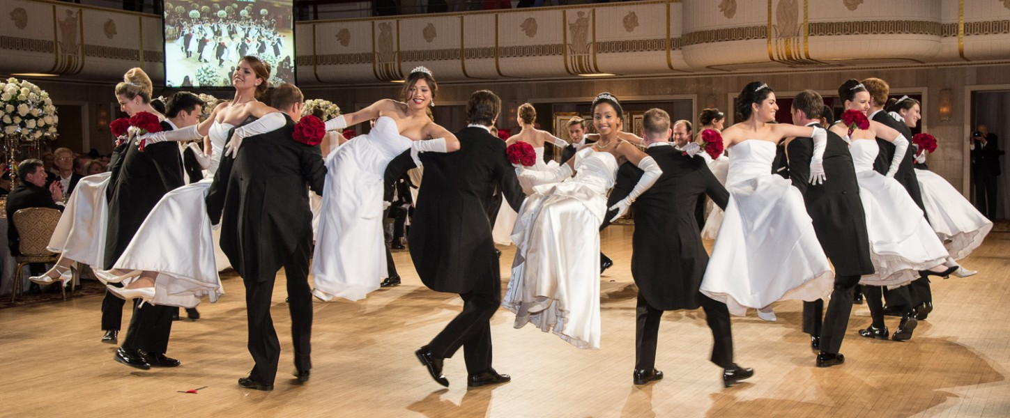 Ben Asen Event Photo: Debutantes and their escorts dancing at the Viennese Opera Ball in New York City at the Waldorf Hotel