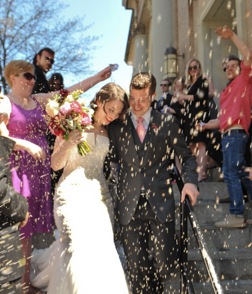 Ben Asen Celebrations Photo: Wedding, rice throwing