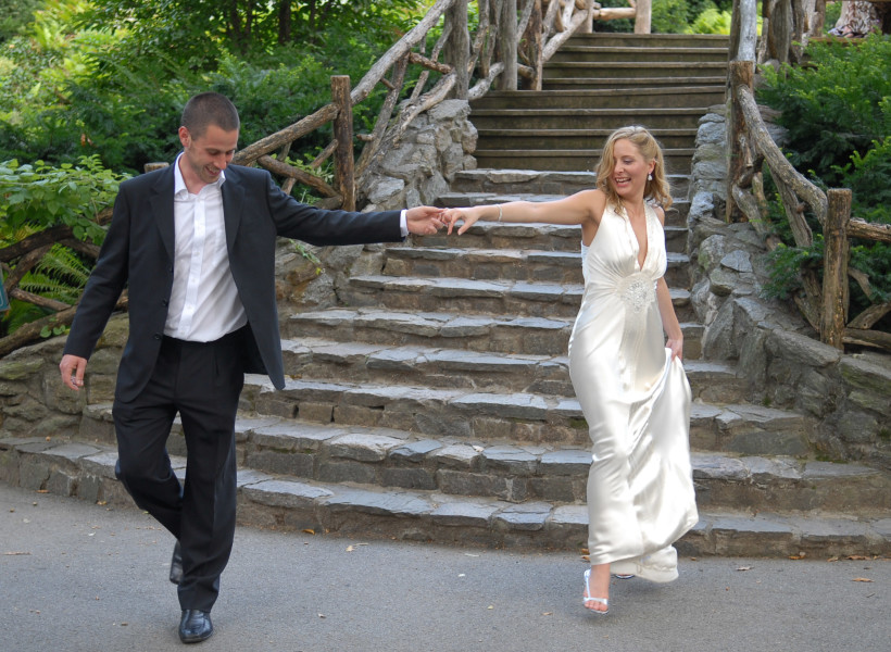 Ben Asen Celebration Photo: Bride and groom dancing in Central Park New York City