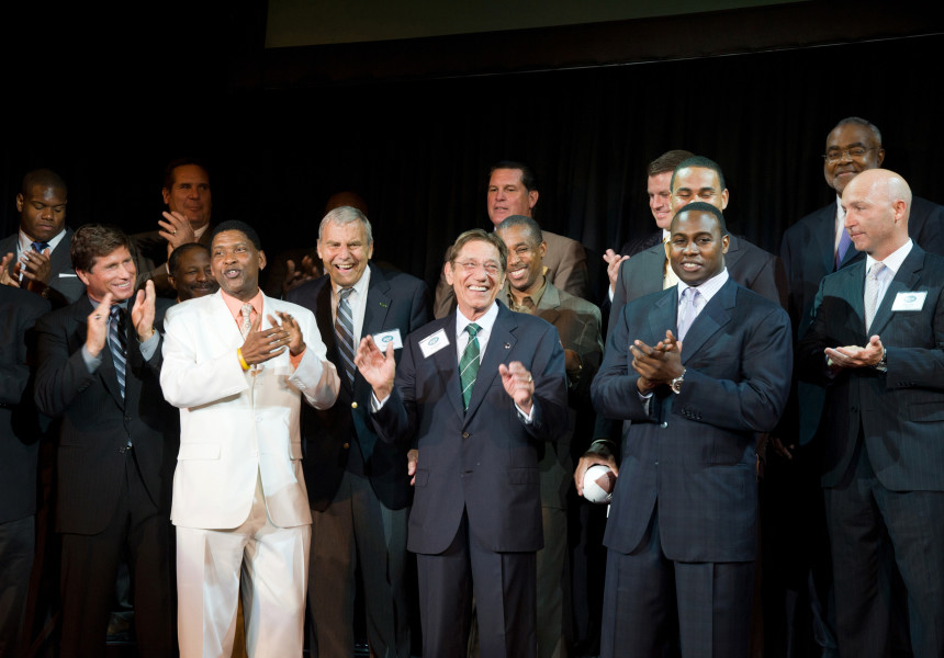 Ben Asen Event Photo: Joe Namath with Former New York Jets at the United Way Gridiron Dinner
